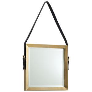 Antique Brass Square Venster Mirror