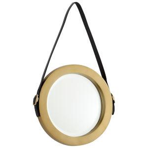 Antique Brass Round Venster Mirror