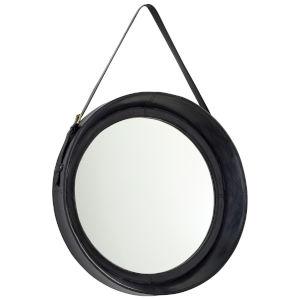 Blue Round Venster Mirror