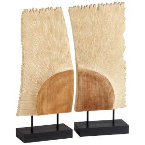 Oak Karan Sculpture, 2 Piece