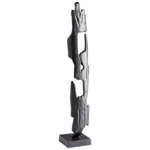 Matte Black Caveat Sculpture