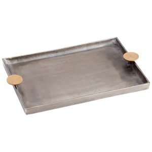 Silver and Gold 19-Inch Obscura Tray
