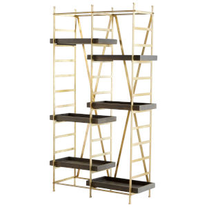 Gold and Grey Corsetto Etagere