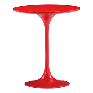 Wilco Red and Fiberglass Side Table