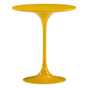 Wilco Yellow and Fiberglass Side Table