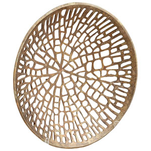 Antique Brass Large Caught in Your Web Plate