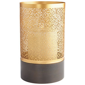 Copper and Gold Large A-Mazing Candleholder