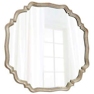 White Patina Medallion Mirror