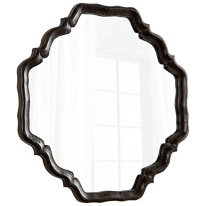 Antique Brown Outline Mirror