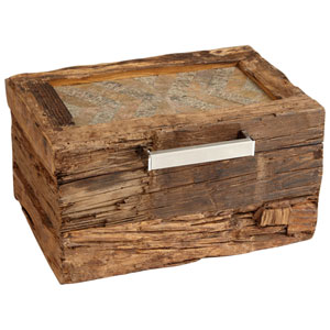 Natural Rustic Pinewood Small x Marks the Box Container