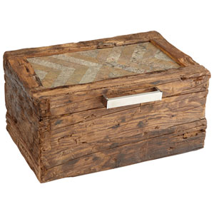 Natural Rustic Pinewood Large x Marks the Box Container