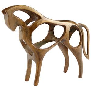 Antique Brass Inside Out Sculpture