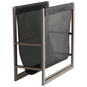 Graphite and Black Mesh Magazine Rack