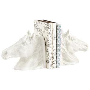 White Stable Stallion Sculpture
