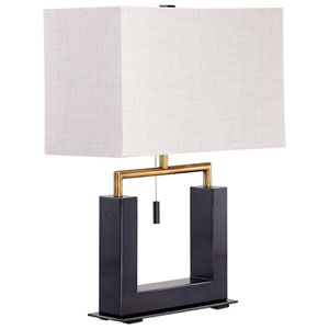 Bronze and Black Aspro Table Lamp