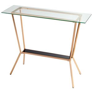 Arabella Rose Gold Console Table