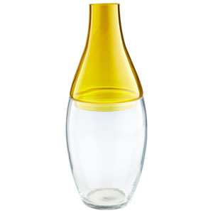 Yellow and Clear Mellow Yellow Vase