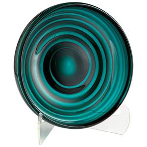 Teal Small Vertigo Plate