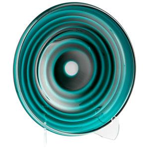 Teal Large Vertigo Plate