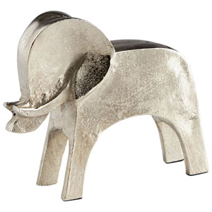 Tusk Tusk Large Raw Nickel Sculpture