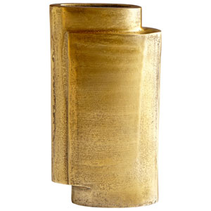 A Step Up Small Antique Brass Vase