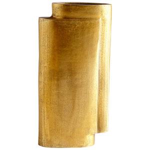 Large A Step Up Antique Brass Vase