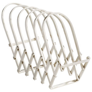 Accordian Magazine Rack