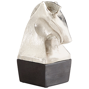 Knight Silver Sculpture