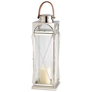 Lanterna Silver Large Candleholder