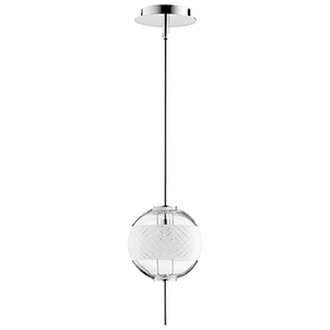 Peloton Polished Nickel One-Light LED Mini Pendant