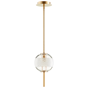 Peloton Aged Brass One-Light LED Mini Pendant