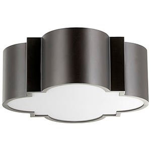 Wyatt Noir Two-Light Flush Mount