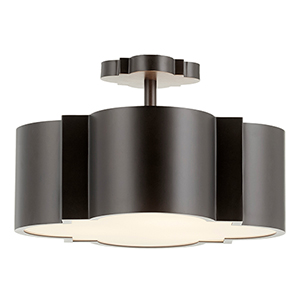 Wyatt Noir Three-Light Semi-Flush Mount