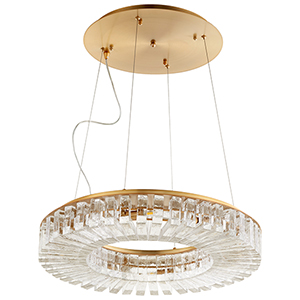 Kallick Aged Brass Eight-Light LED Pendant