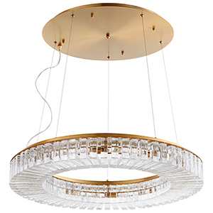 Kallick Aged Brass 10-Light LED Pendant