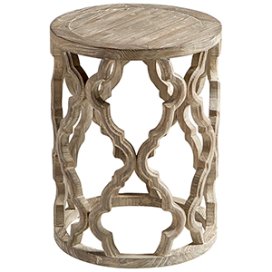 Sirah Weathered Pine Side Table