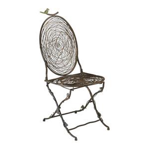 Muted Rust Bird Chair