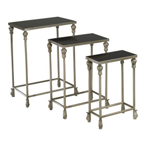 Livingston Antique Silver Nesting Table, Set of Three