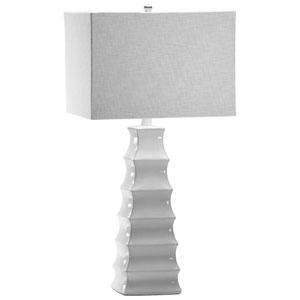 Emily White One-Light Table Lamp