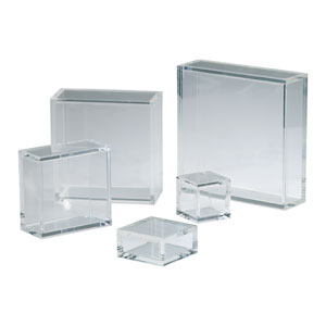 Clear 8-Inch Square Acrylic Pedestal Only