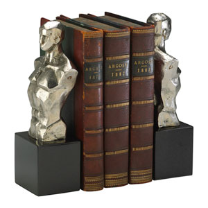 Nickel Hercules Bookends