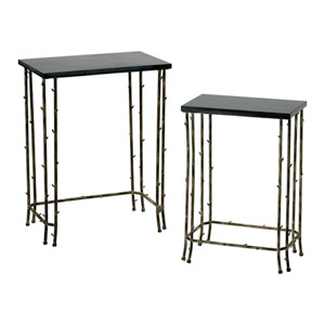 Distressed Bamboo Nesting Tables