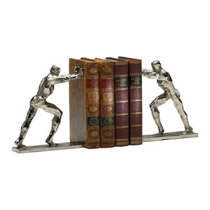 Silver Iron Man Bookends, Set of Two