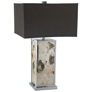 Polished Chrome One-Light Bark Table Lamp