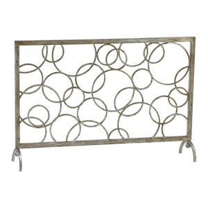 Silver Circle Fire Screen