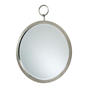 Polished Chrome Round Hanging Mirror