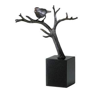 Old World Bird On Branches Sculpture