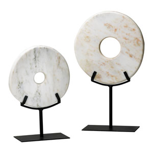 White Large Disk On Stand Only