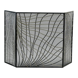 Silver and Black Finley Fire Screen