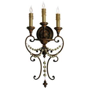 Meriel Antique Sienna Three-Light Wall Sconce